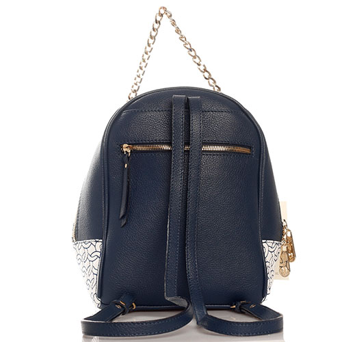Синий рюкзак Marina Creazioni с ручкой-цепочкой, фото