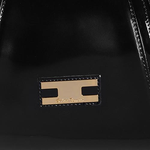 Сумка черного цвета Gilda Tonelli из полированной кожи, фото