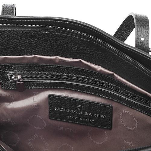 Сумка-торба Norma J.Baker из кожи черного цвета, фото