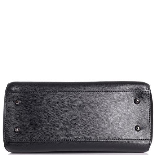 Черная сумка Di Gregorio с металлическими ручками, фото