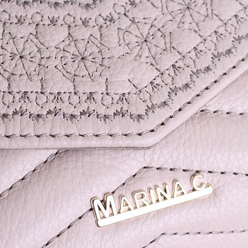 Розовая сумка Marina Creazioni с вышивкой на цепочке, фото