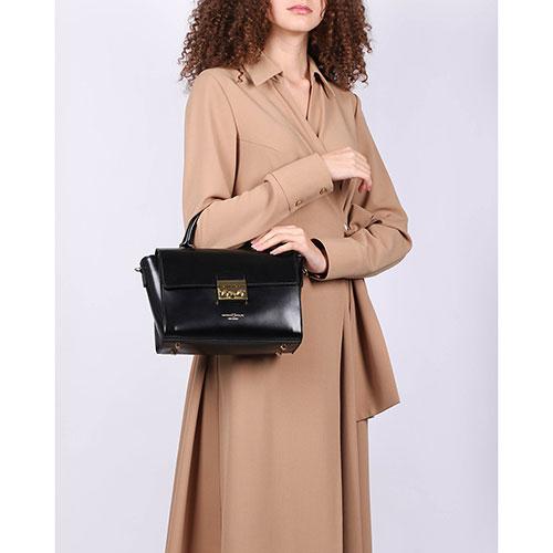 Сумка-портфель Marina Volpe черного цвета, фото