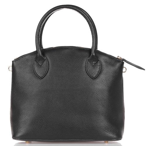 Черная сумка Marina Volpe из зернистой кожи, фото