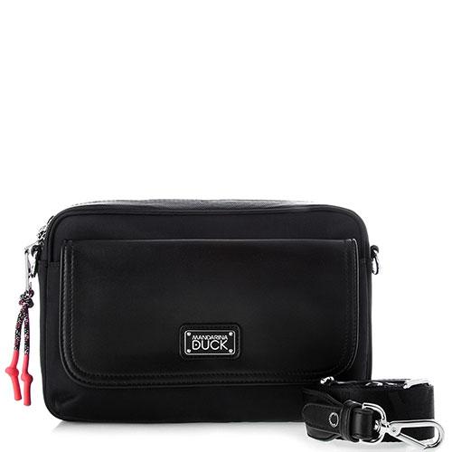 Черная сумка Mandarina Duck Style со съемным ремнем, фото