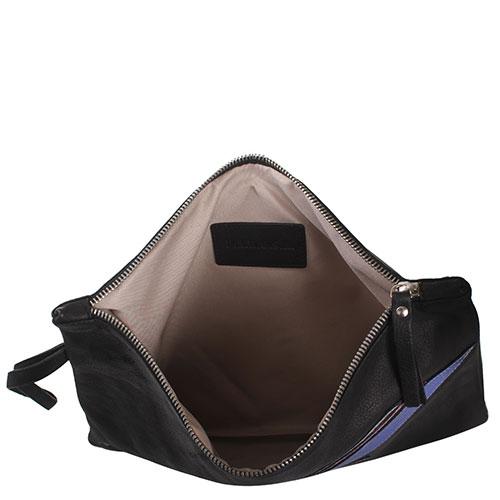 Черная сумка из зернистой кожиP.A.R.O.S.H. С аппликацией в виде молний, фото