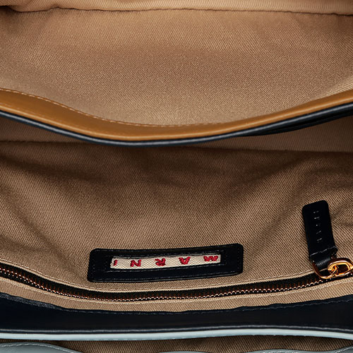 Голубая сумка Marni с золотистой фурнитурой, фото