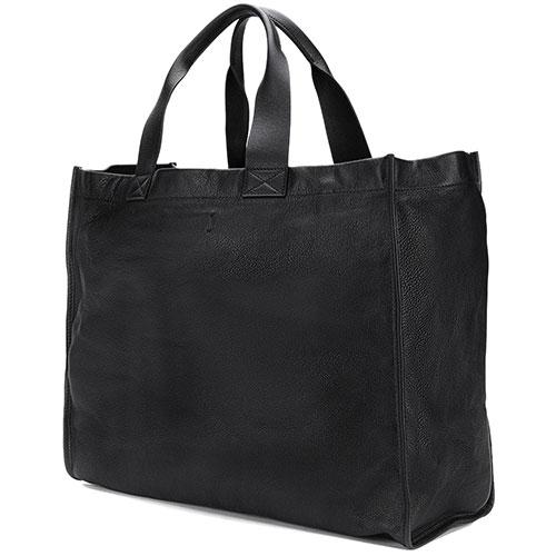 Сумка-шоппер Dsquared2 черная с принтом, фото
