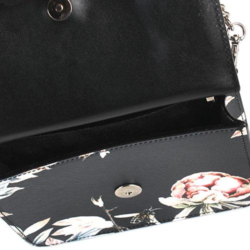 Двусторонняя сумка Salar Lulla из кожи с тиснением Сафьяно и цветочным принтом, фото