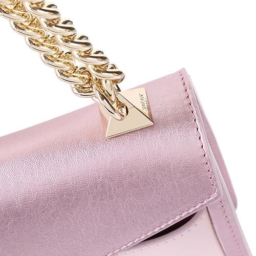 Сумка Salar Mila из натуральной кожи розового цвета, фото