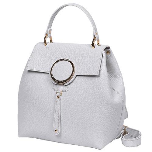 Рюкзак Gilda Tonelli из зернистой кожи белого цвета, фото
