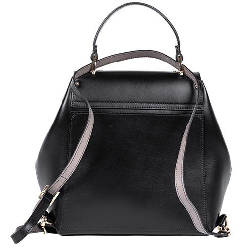 Черный рюкзак Gilda Tonelli из гладкой кожи, фото
