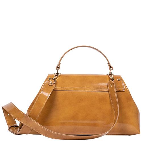 Коричневая сумка Gilda Tonelli на широком ремне, фото