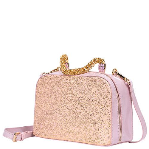 Розовая сумка Gilda Tonelli с золотистой росписью, фото