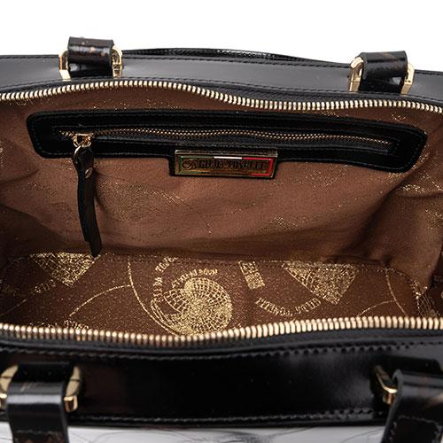 Сумка-портфель Gilda Tonelli с декором-тиснением, фото