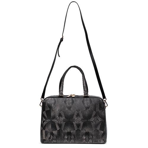 Черная сумка Gilda Tonelli с принтом-абстракцией, фото