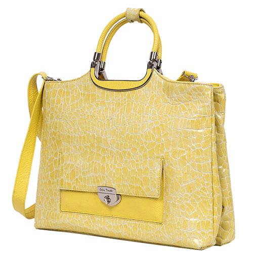 Сумка Gilda Tonelli желтого цвета с тиснением, фото