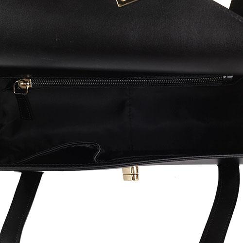 Сумка Tosca Blu прямоугольной формы черного цвета, фото