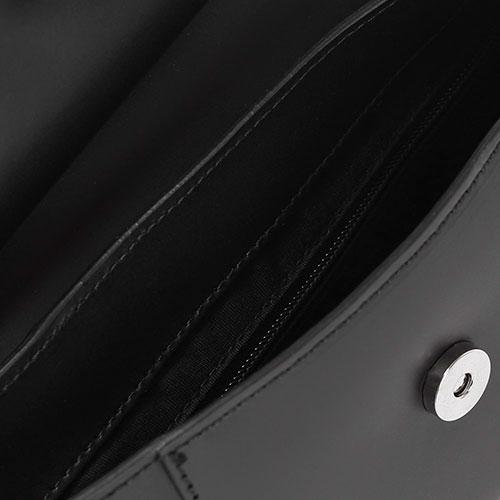 Маленькая сумка из черной матовой кожи Tosca Blu Dandy с бантом, фото