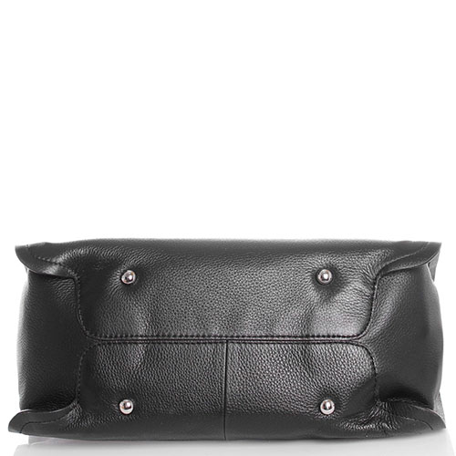 Сумка прямоугольной формы Tosca Blu Metropolitan из зернистой кожи черного цвета, фото