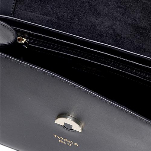 Маленькая черная сумка Tosca Blu с декором-заклепками, фото