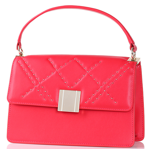 Красная сумка Tosca Blu с декором-заклепками, фото