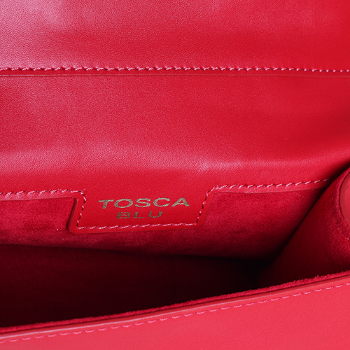 Сумка Tosca Blu красного цвета на цепочке, фото