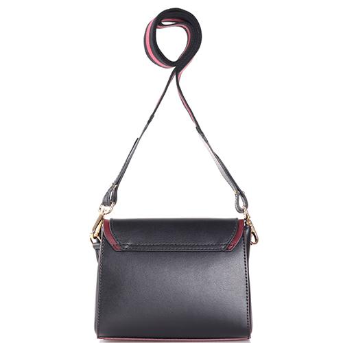Черная маленькая сумка Tosca Blu на широком ремне, фото