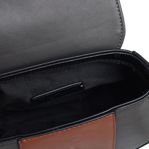 Черная сумка Tosca Blu Lady Danger с коричневыми вставками, фото