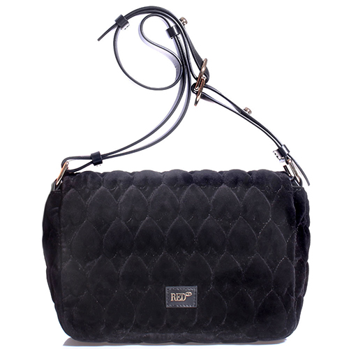 Текстильная сумка Red Valentino черного цвета, фото