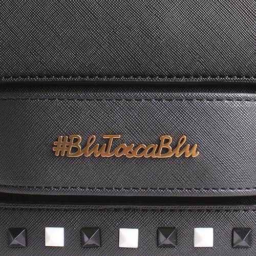 Черная сумка Tosca Blu с декором вдоль клапана, фото