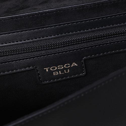 Сумка Tosca Blu из кожи черного цвета , фото