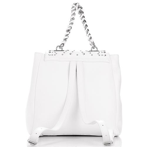 Рюкзак Philipp Plein белого цвета с декором-заклепками, фото