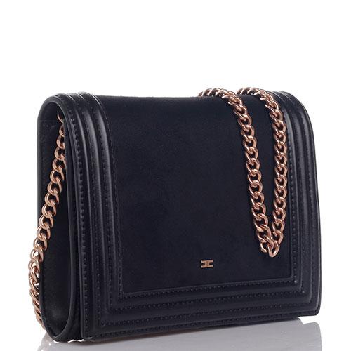 Черная сумка-клатч Elisabetta Franchi на цепочке, фото