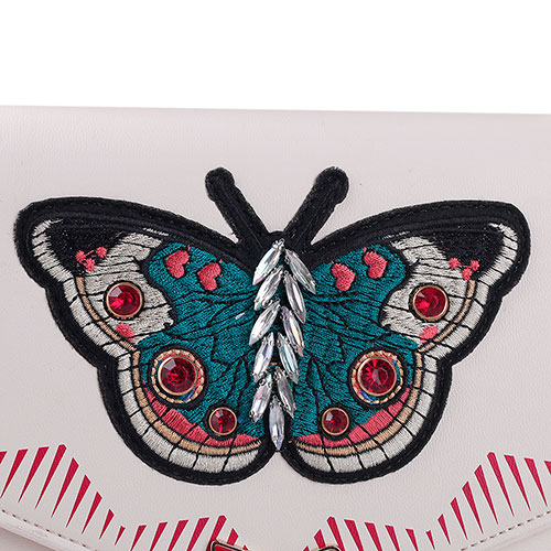 Сумка-тоут Tosca Blu Butterfly со стразами и вышивкой, фото