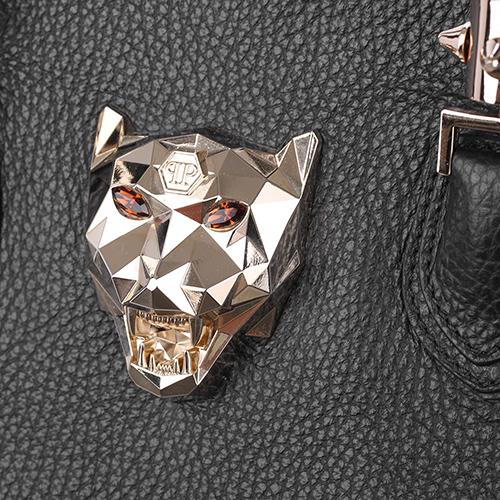Черная сумка Philipp Plein с золотистым декором, фото