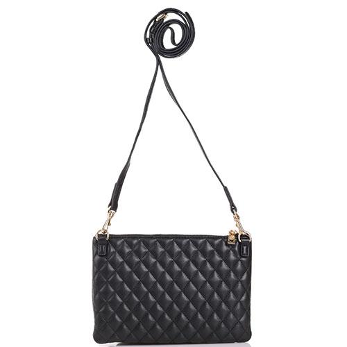 Стеганная сумка Love Moschino черного цвета, фото