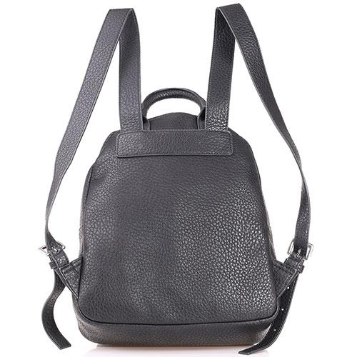 Черный рюкзак Love Moschino с декором в виде круглых заклепок, фото