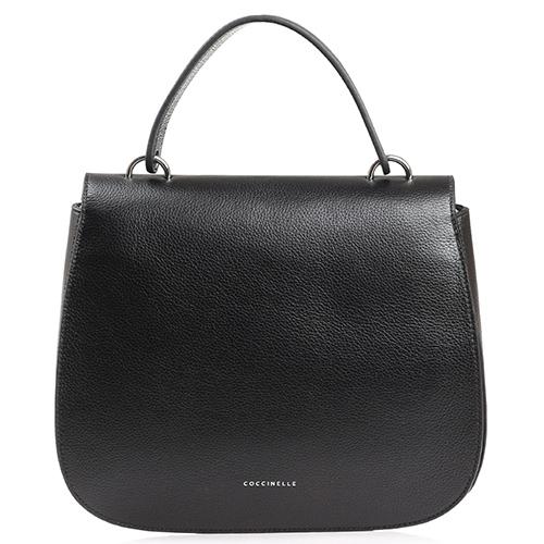 Черная сумка Coccinelle с металлическим декором, фото