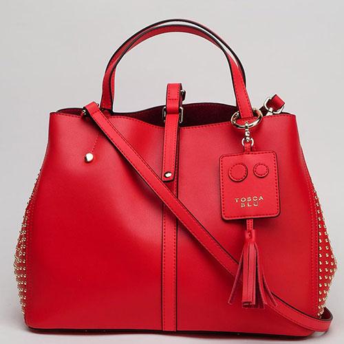 Красная сумка Tosca Blu Girasole с заклепками, фото
