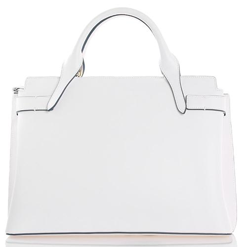 Белая сумка Tosca Blu Cinderella из гладкой кожи с ярким принтом, фото