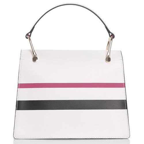 Белая сумка Tosca Blu Miro трапецеевидеой формы, фото
