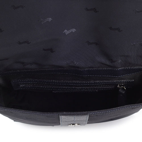 Женская сумка Harmont&Blaine из натуральной крупнозернистой кожи синего цвета, фото