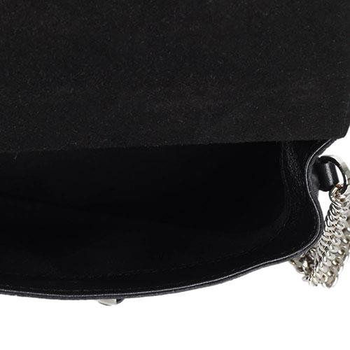 Сумка-клатч Gianni Chiarini черного цвета с имитацией кожи змеи, фото