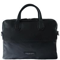 Черная сумка The Bridge Williamsburg унисекс для ноутбука со съемным плечевым ремнем, фото