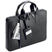 Черный портфель для ноутбука S.T.Dupont Diamond Extra Flat из кожи, фото