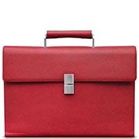 Красный классический портфель Porsche Design French Classic из кожи, фото