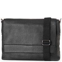 Черная сумка Gianni Chiarini из зернистой кожи, фото