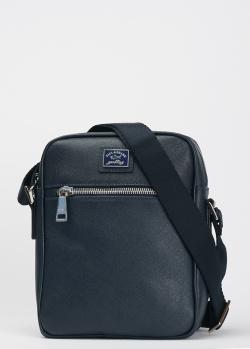 Мужская сумка Paul&Shark из синей кожи, фото