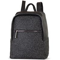 Рюкзак Gianni Chiarini серого цвета из кожи и текстиля, фото