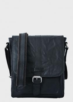 Черная сумка Spikes&Sparrow с клапаном, фото